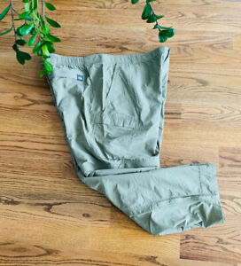 REI Relaxed Fishing Hiking Camping Outdoor Cargo Nylon Pants Men's Size 43/30.5