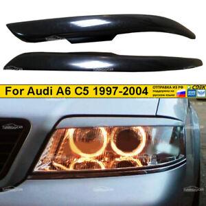 Eyebrows Eyelid Cover cilia for slanting headlights Audi A6 C5 1997 - 2004