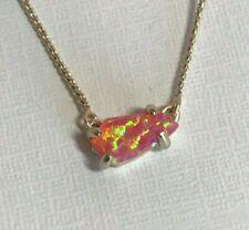 Kendra Scott Jayde Coral Kyocera Opal Petite Necklace NWT
