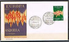 EUROPA CEPT 1972 SELLO DE ANDORRA ESPAÑOLA EN S.P.D. (F.D.C.)