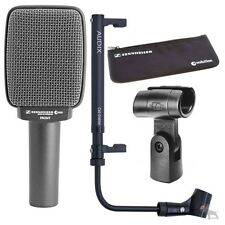 Sennheiser e609 Silver Microphone with Cabgrabber Amp Mic Holder & XLR Cable