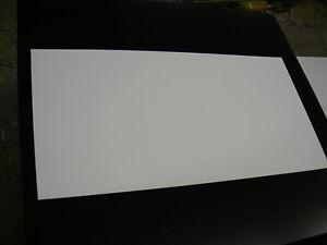 """WHITE STYRENE POLYSTYRENE PLASTIC SHEET .020"""" THICK 12"""" X 48"""""""