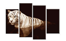 "TIGER CANVAS PICTURES BROWN BLUE EYES WALL ART SPLIT MULTI PANEL 40"" rdy 2 hang"