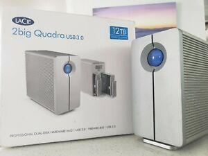 """LaCie 2big 12TB (2x 6TB) Quadra USB 3.0 3.5"""" Dual Bay External RAID Array"""