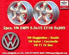 2 Cerchi Lega Volkswagen EMPI 5.5x15 Maggiolino Käfer T1 T2 Wheels felgen TUV
