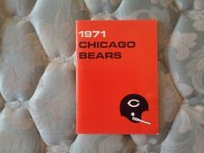 1971 CHICAGO BEARS MEDIA GUIDE Yearbook Press Book Program NFL Football AD