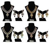 Set Indian Fashion necklace Gold Plated Bollywood Wedding Bridal Women Jewelry