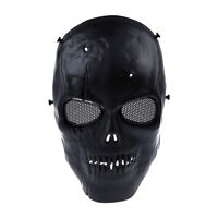 Airsoft Mask Skull Full Protective Mask Military - Black ED