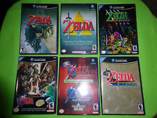 EMPTY CASES!  Legend of Zelda: Four Swords Twilight Wind Waker Nintendo GameCube