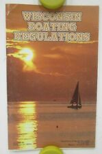 1996 Wisconsin Boating Regulations Booklet Personal Watercraft Law Boat
