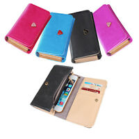Womens Wallet Case Credit Card Leather Cover For iPhone 4s 5s 5c Galaxy S2