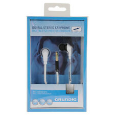 Grundig 48565 White Digital Stereo Earphones Headphones With Flat Cable - White