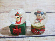 J C Penney 2001 and 2008 Disney Snow Globes Minnie and Mickey Mouse