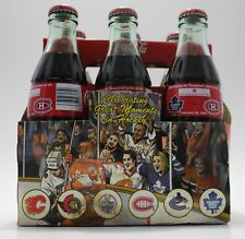 Coca Cola Toronto Maple Leafs Vs Montreal Canadiens 1999 6-Pack Glass Bottles