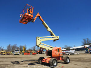 2012 JLG 450AJ 45' 4WD Diesel Boom Lift Man Aerial Platform Jib SkyPower bidadoo