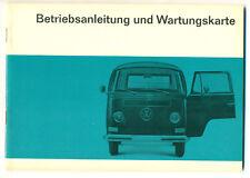 VW Bus T2 Betriebsanleitung 1967  Transporter Bulli  Bedienungsanleitung 1967