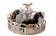 Schleich Pferde Führanlage Farmlife Pferdestall CollecA Papo Modellpferdezubehör