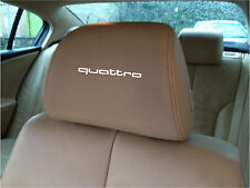 AUDI QUATTRO  CAR SEAT / HEADREST  - BADGE - Vinyl Stickers - Graphics X5