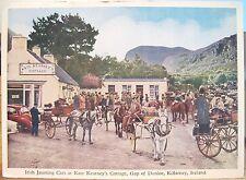 Irish Postcard Jaunting Cars Kate Kearney'S Cottage Killarney Mac Series Ireland
