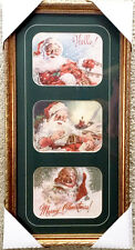 Merry Christmas Santa Clause The Prints In One Framed Piece Open Edition Print