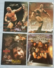 Wwf Set of 4 New Wrestling Stone Cold Rock D-Generation Cactus Jack Port folders