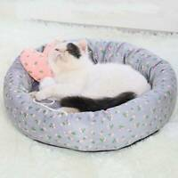 Pet Dog Cat Calming Bed Round Nest Warm Soft Cozy Plush Comfortable Sleeping H
