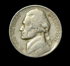 1951-S Jefferson Nickel (Circulated) Free Shipping
