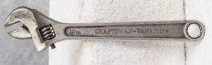 "Vintage Craftsman Vanadium Adjustable Wrench 10"" jds"
