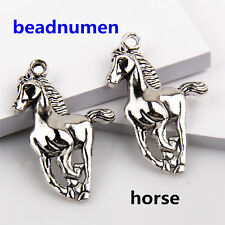 10Pcs Zinc Alloy Running horse Charms Pendants 41*22mm Finding