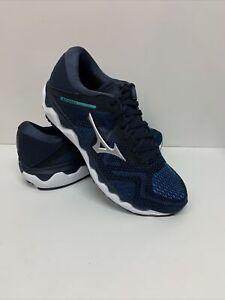 Mizuno Men's Wave Horizon 4 Running Shoe Navy Blazer/Silver 13 D(M) US EU 47
