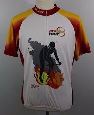 "VOLER Team Spokin' Fire Flames XL USA Bike Cycling Jersey ""Club Raglan"" Biker"