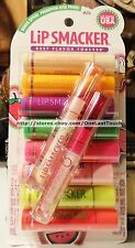 LIP SMACKER 10pc Flavored ORIGINAL Balm+Gloss PARTY PACK Set/Lot NEW #025