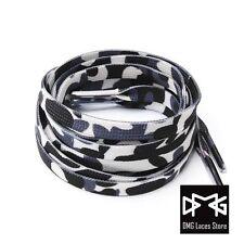 """48"""" 60""""Camo Print Flat Shoe laces for Air Jordan AJ 5 6 7 Air Max dunk Kyrie EQT"""