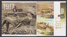 Australia 2017 Centenary of WW1 Booklet B/C 715489