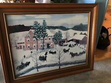 """Grandmom Moses Print - Framed In Glass 23""""x29"""" Wooden Frame~See Pictures/details"""