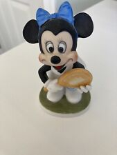Vintage Minnie Mouse Tennis Player Walt Disney Productions Figurine Ceramic