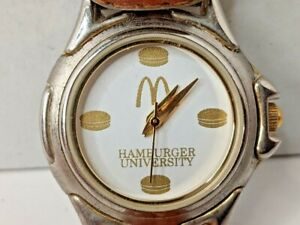 Vintage McDonalds Hamburger University Women's Wrist Watch Made in Japan