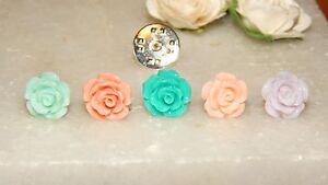 S/P Tie/Cravat/Scarf/Modesty Pin 10,15,20,or 22mm Acrylic Rose-Unisex-Wedding