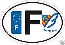 Autocollant sticker de département 58 Bourgogne