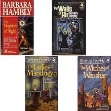 LOT 4 PB Barbara Hambly WALLS AIR WITCHES WENSHAR LADIES MANDRIGYN MAGICIANS mnp