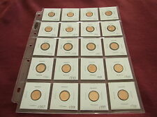 1 cent set 1970,1971,1972,1973,1974,1975,to,1990 from MINT ROLLS