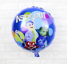 45cm INSIDE OUT Disney Pixar Character Movie Round Foil Balloon Party Supply