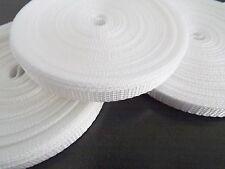 10mm White Polypropylene webbing Tape x 10 Metres