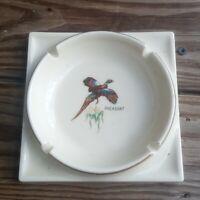 Vintage Cigarette Ashtray Pheasant  Large  Hunting Birds