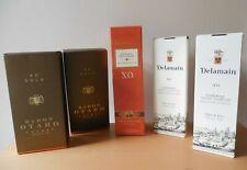 Collection of 5 Empty, XO Gold Cognac, Delamain & Boulard Cognac Champagne Boxes