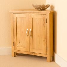 Newlyn Oak Corner Cupboard / Hand Crafted Modern Oak Small Cupboard / Light Oak