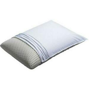 Full Size Latex Foam Bed Pillow with Removable 100% Cotton Cover Beautyrest
