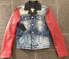 DSQUARED2 S/S 2014 CHIC ROCKER LEATHER JEANS JACKET JACKE BLAZER SAKKO 46 VEST