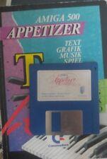 AMIGA 500 APPETIZER (Commodore  Buch 1986) + Disk