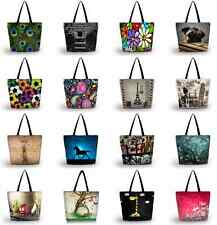 Womens Probable Large Foldable Washable Shoulder Shopping School Travel Bag Tote